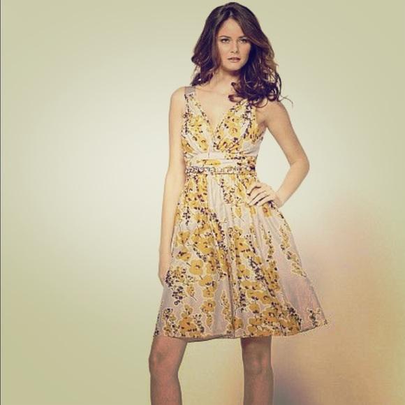 4a723f2fbadfb H&M Dresses | Final Markdown Hm Yellow Floral Dress | Poshmark