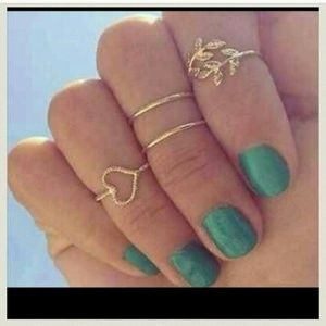 Gold Toned Knuckle Rings. ONE SET LEFT.