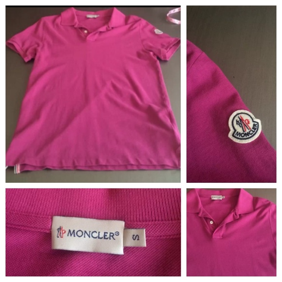 34 off moncler other sold hot pink moncler polo shirt for What stores sell polo shirts