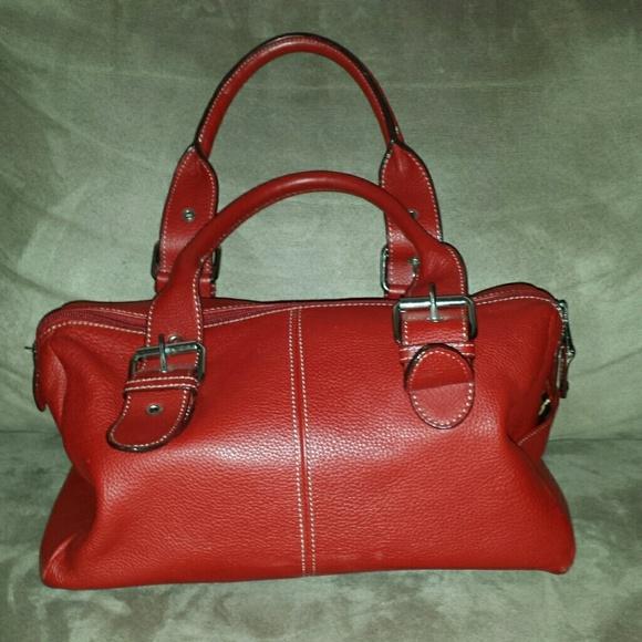 5e076f4a5b3c Genuine leather red Tignanello purse. M 54e64d67e2de3c03680972a4