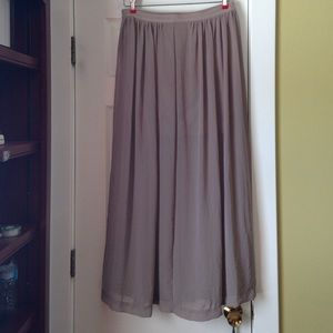 H&M maxi skirt in champagne color