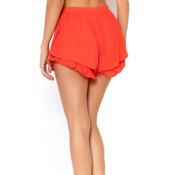 56% off Pants - High waisted ruffle shorts! from Stefanie's closet ...