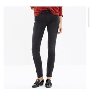Madewell high riser skinny skinny stitch patch