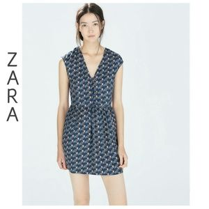 ZARA Printed Owl Dress