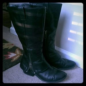 "Black leather ""Kayla"" spat Kork Ease boots"