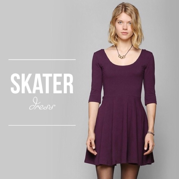 b465773997fa Urban Outfitters Dresses | Sparkle And Fade Purple Skater Dress ...