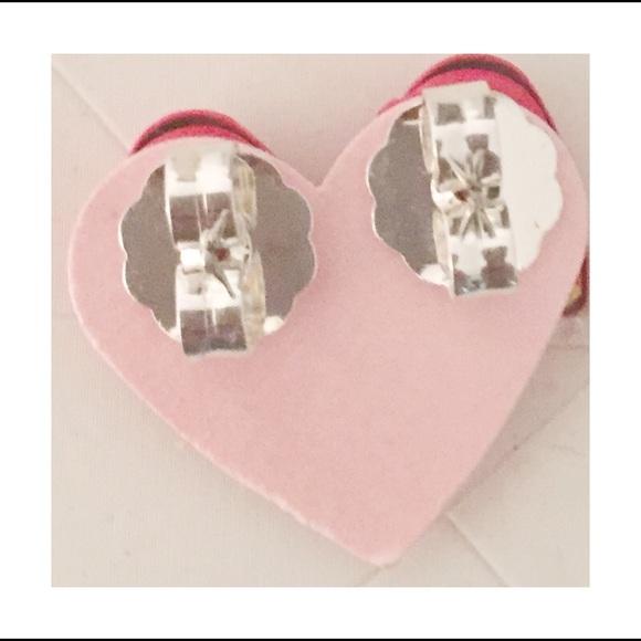 Jojo Loves You Earrings Jojo Loves You Heart Red