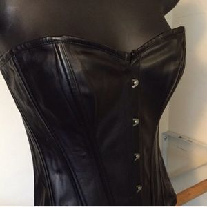 Tops - Leather Corset