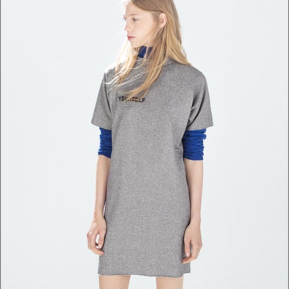 8768f3e701 zara T shirt dress NWT