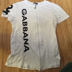 Vintage Dolce & Gabbana Zip-Up T-Shirt