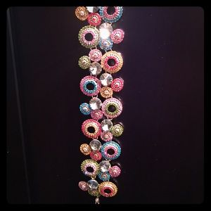 Beautiful colorful bracelet sparkles and shines
