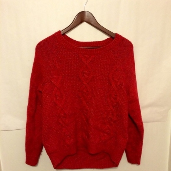 43% off H&M Sweaters - H&M Orange-Red Oversized Sweater from ...