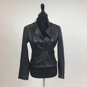 Jackets & Blazers - 3X HOST PICK 🎉 Black Leather Moto Jacket
