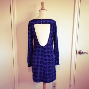 Dresses & Skirts - Violet Black Houndstooth Cut-Out Back Dress