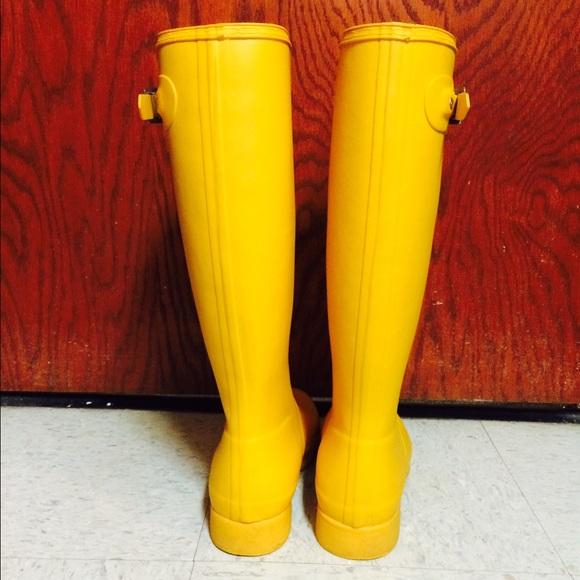 22% off Hunter Boots - ORIGINAL TALL YELLOW HUNTER RAIN BOOTS from ...