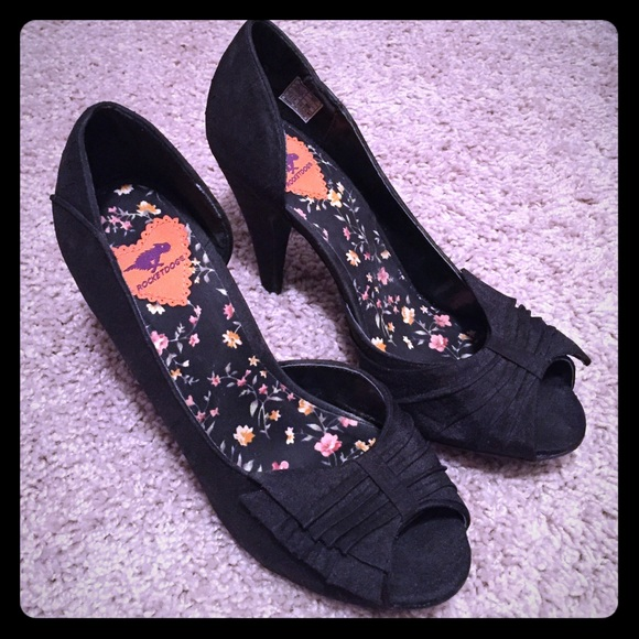 Bow Ruffle Peep Toe Heels | Poshmark