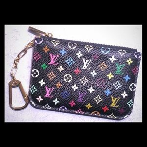 Louis Vuitton Clutches & Wallets - Authentic Louis Vuitton Multi Color Key Cles