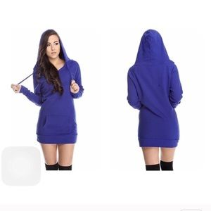 Sweaters - Large blue oversized boyfriend hangover hoodie