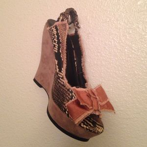Jessica Simpson Sling open toe Wedges SZ 8B