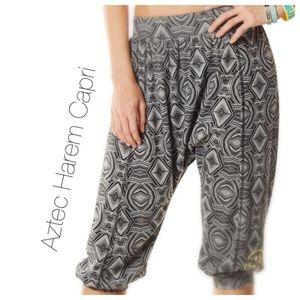 Pants - ZUMBA💃Aztec Harem Capri Pant💃
