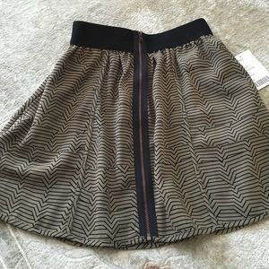 New green and black skirt
