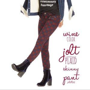 Pants - Plaid Skinny Pants - Junior's