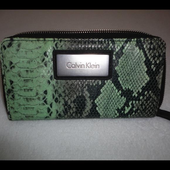 3c07084361 Calvin Klein Bags | Snake Skin Clutch Wallet Ck | Poshmark