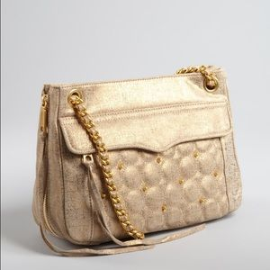 Rebecca Minkoff Handbags - NWT Rebecca Minkoff Gold Gilded Leather Swing Bag