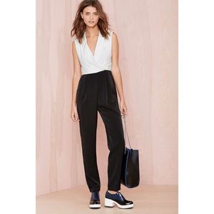 Nasty Gal Dresses & Skirts - [Nasty Gal]fancy pants tux jumpsuit