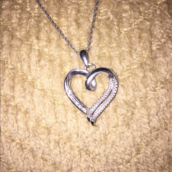 76 off zales jewelry heart shaped diamond necklace from for Where is zales jewelry