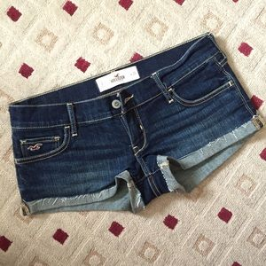 29% off Hollister Denim - Orange low rise shorts from Heather's ...