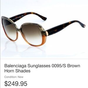 Balenciaga 0095/S Women Sunglasses Authentic