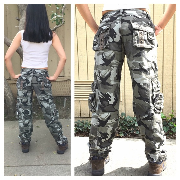 72% off Pants - Combat Camo Camouflage Military Cargo Pants from ...