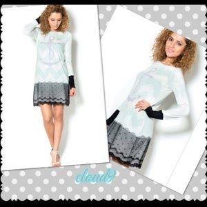 Cloud 9 Dresses & Skirts - 🆕Anchors away ;)! Chevron Mixed Media Tunic Dress