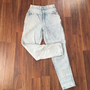 Denim - High waist acid washed denim pants