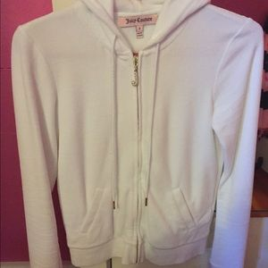 white juicy couture velour jacket small