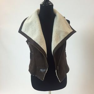 Forever 21 Jackets & Blazers - Faux Shearling Brown Vest