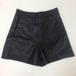 Karl Lagerfeld for Macy's Pants - High Waisted Faux Leather Shorts