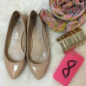 Report Shoes - Report Nude Ballet Flats