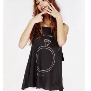Wildfox Tops - ️NWT Wildfox 'Put A Ring On It' Tunic Coverup Tank