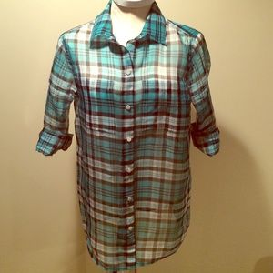 Michael Kors silk camp shirt