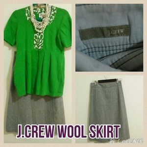 J.Crew Wool Skirt in Charcoal