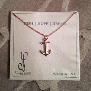 Kendra Phillip Jewelry - SOLD Rose Gold Kendra Phillip Anchor Necklace