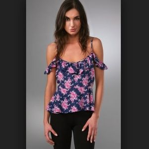 Pencey Tops - Pencey Floral Open Shoulder Top
