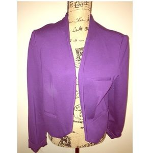 Purple open blazer