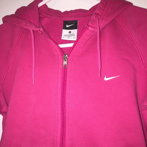 75% off Nike Outerwear - Nike Pink Zip Up Hoodie size Small from ...