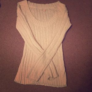 Chunky cable knit cream sweater size small