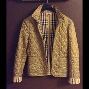 Burberry - Burberry London Gold Fully Lined Quilted Jacket. from ... : gold quilted jacket - Adamdwight.com