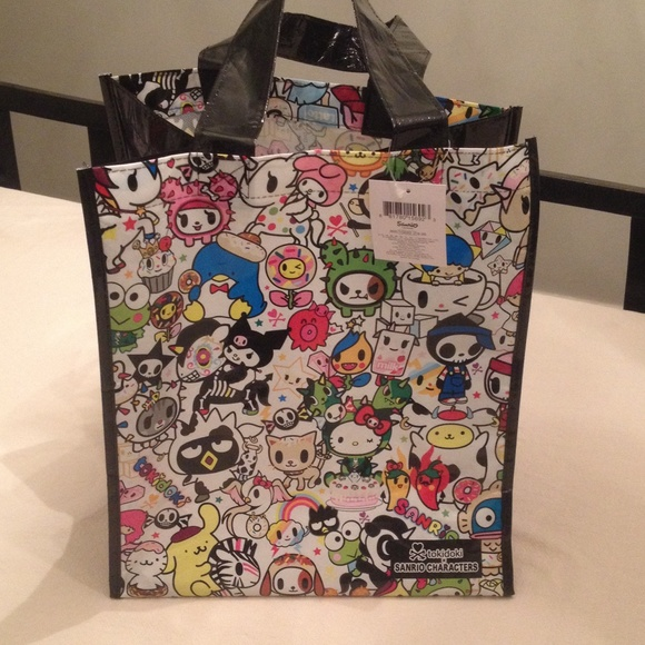 df67b026133f Hello Kitty multi color Tokidoki Tote Bag