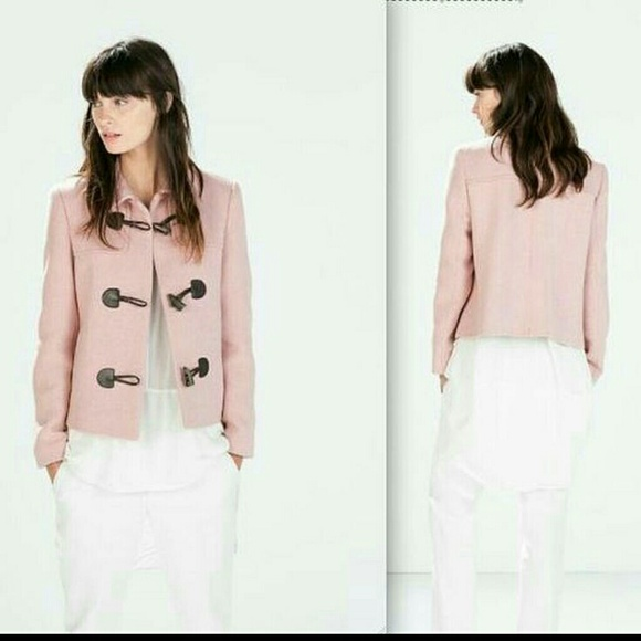 Zara - ?flash sale? Zara pink short coat from Lily&39s closet on